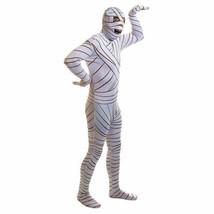 2nd SKIN MUMMY FULL-BODY STRETCH JUMPSUIT ADULT HALLOWEEN COSTUME SIZE L... - $36.11