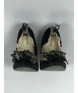 MIU MIU Black Suede Ballet Flat Slip On Tassel Toe Driving Shoes Size IT... - $69.29