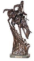 American Handmade 100% Bronze Sculpture Statue Mountain Man By Frederic Remingto - $811.93