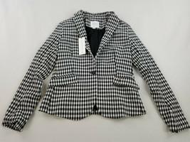 new MAISON D'AMELIE women jacket blazer V1303L black white sz XS - $61.79