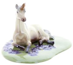 Hagen-Renaker Specialties Ceramic Figurine Unicorn Lying on Base image 7