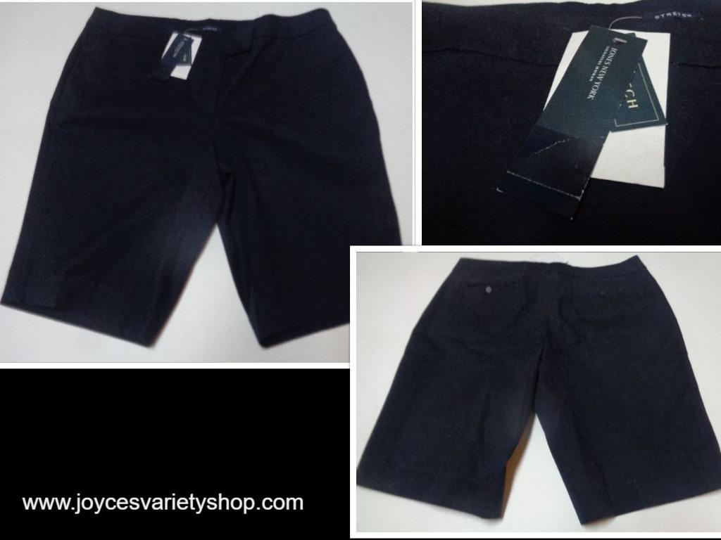 Jones new york navy blue shorts collage 2017 12 25