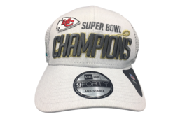 New Era Mens Kansas City Chiefs Grey Super Bowl Champions Adjustable Hat - $19.99