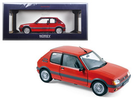 1988 peugeot 205 gti 1 6 vallelunga red 1 18 diecast model. Black Bedroom Furniture Sets. Home Design Ideas