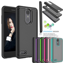 For LG Rebel 4 LTE Case Shockproof Armor Hybrid Impact Hard Phone Cases ... - $11.20