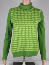 Tommy Hilfiger sweater knit green turtleneck long sleeve size S/P - $31.94