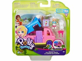 "-NEW IN BOX- Ice Cream Truck Polly Pocket Micro Set 1.5"" - $12.99"