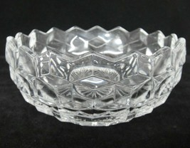 "Fostoria American Clear Glass 5.5"" Nappy Bowl  Sawtooth Edge Chip on Underside - $5.93"
