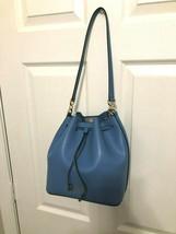 Michael Kors Eden Convertible Drawstring Bucket Shoulder Bag French Blue - $108.88