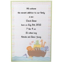 Wilton 12-Pack Noah's Ark and Animals Invitation - $7.16