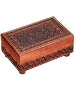 Secret PUZZLE BOX, Handmade Wood Keepsake Jewelry Treasure Collector Box... - $39.59