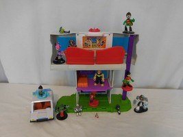 Imaginext Teen Titans Go Tower Playset Clubhouse With Figures + Car - $82.19