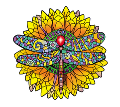 Dragonfly Window Sticker Deadhead  Car Decal  Hippie  - $5.49