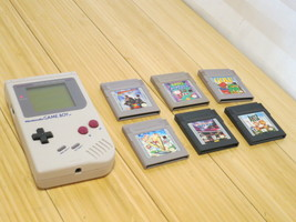 Nintendo DMG-01 Game Boy System - Fully Working With 6 Games - $55.92