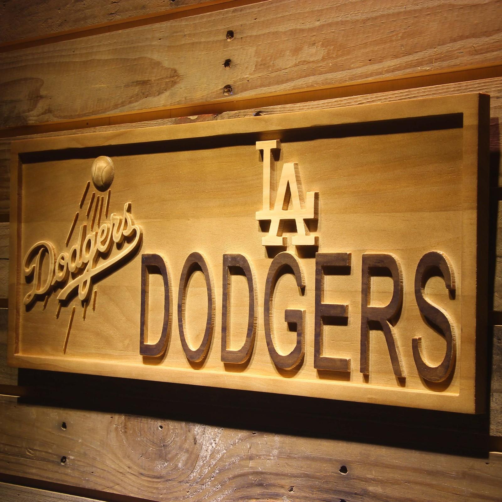 Baseball Home Decor: Los Angeles Dodgers MLB Baseball Team Wooden Sign Wall Art