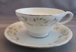Sheffield Classic 501 Set of 6 Cups & 6 Saucers Pink Roses Grey 12 piece... - $17.50