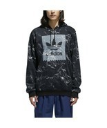 Adidas Men's Other Sports Marble Print Hoodie Black-White DH3922 - $64.95