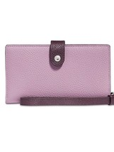Coach New Phone Slim Wristlet Wallet Leather Jasmine Two Tone Color - $79.00