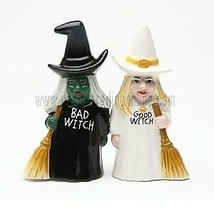 Pacific Trading Good Witch and Bad Witch Magnetic Ceramic Salt & Pepper... - £9.27 GBP