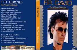 F.R.DAVID The Video Collection Bootleg DVD Rare Hard To Find - $22.99