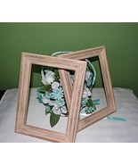 Beige Distressed wood picture frames, 5 x 7, hand painted - $14.00