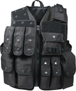 Black Tactical Raid Vest Official Law Enforcement Patrol Duty Mag Pouches - $77.99