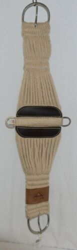 Ozark Saddle King Texas 09134M Roper Style Mohair Girth Cream Color