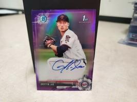 2017 Bowman Chrome Prospect Purple Refractor /250 Griffin Jax #CPA-GJ Au... - $14.25