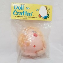 "Doll Craftin/' 4/"" Angie Head Hands 163-95 New Old Stock Black Hair"