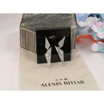 Alexis Bittar Rhodium Crystal Encrusted Origami Drop Earrings NWT - $148.01