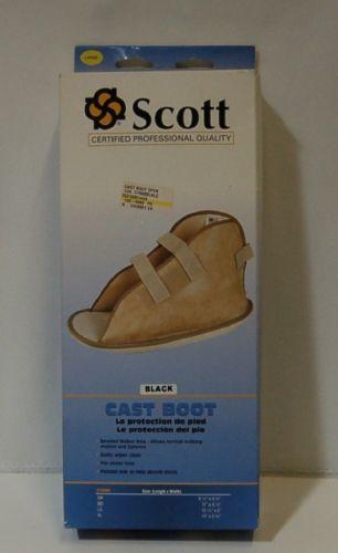 Scott Specialities C7000 Large Open Toe Black Vinyl Cast Boot