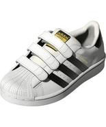 adidas Originals Unisex Kids Superstar CF Sneaker Size 3K White/Black EF4838 - $57.92