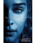 "Game of Thrones Season 7 Daenerys Targaryen Winter Is Here Poster 24"" x 36"" - $19.88"