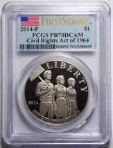 2014 Civil Rights Act Of 1964 PCGS Proof PR70DCAM PF70 PR70 Coin Lot# SR 1200