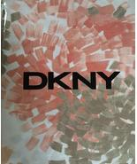 DKNY Brushstroke Floral Coral Blush/Tan/taupe Shower Curtain - $38.00
