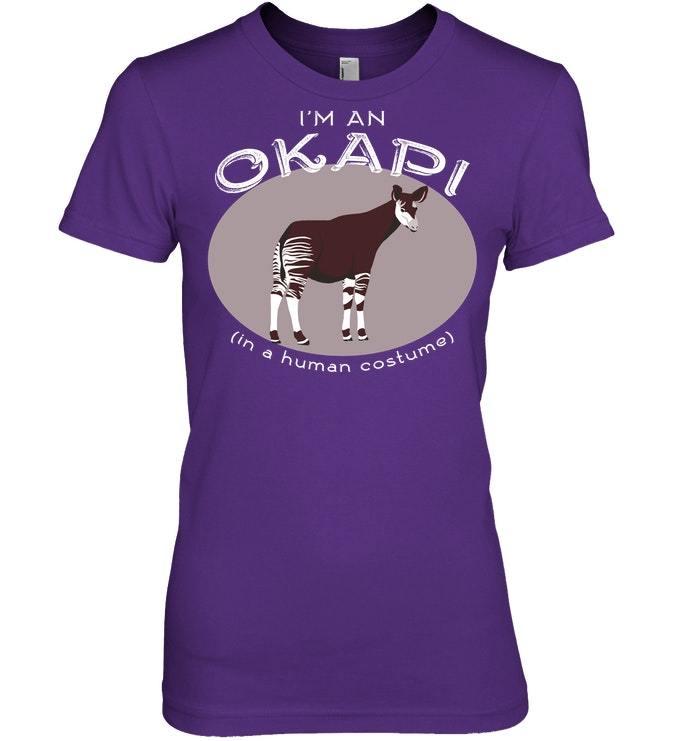 Easy Okapis Halloween Costume Funny Okapi Tshirt