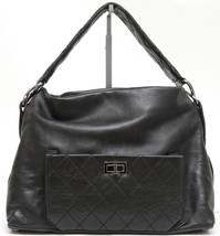 CHANEL Black Lambskin Leather QUILTED 8 KNOTS Hobo Shoulder Mademoiselle - $2,161.25