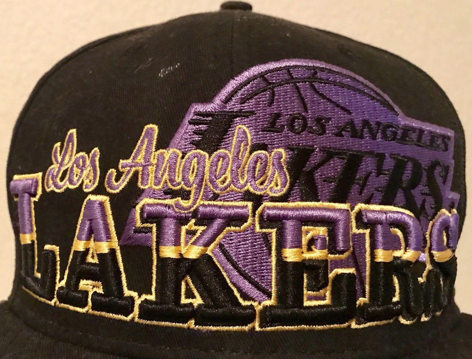 NBA Los Angeles Lakers New Era 9Fifty 950 Snapback Hat Cap Black Gold Purple 4056979dd837