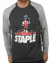 Staple Charcoal For The Luv of collecting Shoes Long Sleeve T-Shirt NWT image 1