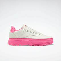 Reebok Classics Womens Club C Double GEO Leather Shoes Chalk and Pink - $102.90