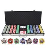 500 pc ct 11.5g Big Slick Poker Clay Chips Set Casino w/ Aluminum Case - $77.14