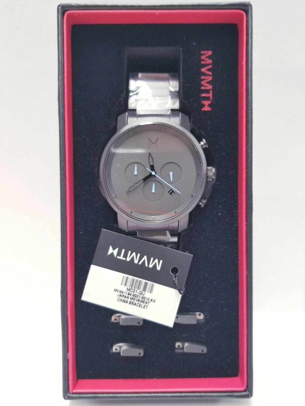 MVMT Men's Chrono MC02-GU Grey Stainless-Steel Analog Quartz Fashion Watch - $96.71