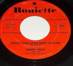 45RPM Buddy Knox Dont Make Me Cry Rock Petit Bébé Sleep Roulette Record ... - $9.19