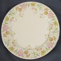 "Noritake FLIRTATION 7227 Dinner Plate 10 5/8"" Pink and Yellow Floral Rim - $11.95"
