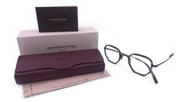 Oliver Peoples Unisex Black Ebony wood Glasses with case OV 1234 5062 46mm - $295.99