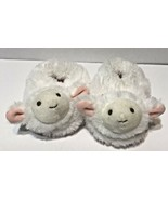 Baby Infant Lamb Slippers Fluffy Soft 6-18 Months White and Pink Easter - $6.66