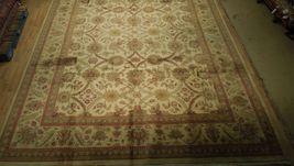 New Smooth Wool Authentic Handmade 10' x 14' Beige Jaipur Wool Rug image 9