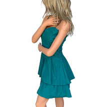 Xhilaration Layered Ruched Teal Dress Size S  - $9.99