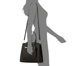 Calvin Klein Mara Saffiano Leather Satchel, Black/Gold $178 - $95.63