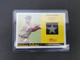 2007 Topps Heritage Stan Musial Baseball Card Clubhouse Collection Relic... - $46.74